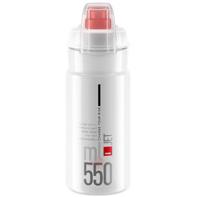 Elite Jet Plus Drinking Bottle 550ml, clear/red logo